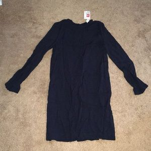 Navy Blue Long Sleeve Dress